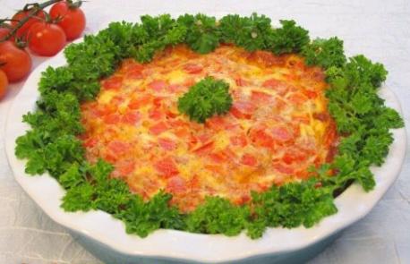 Яичница с томатами