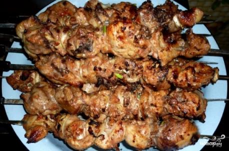 шашлык из куриных желудков